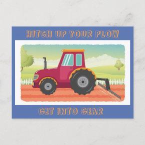 Toddler Tractor Birthday Invititation Invitation Post