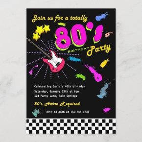 Totally 80's Birthday Party