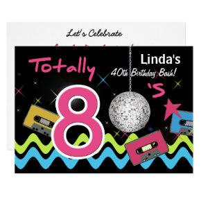 80s Party Wording Birthday Invitations Candied Clouds