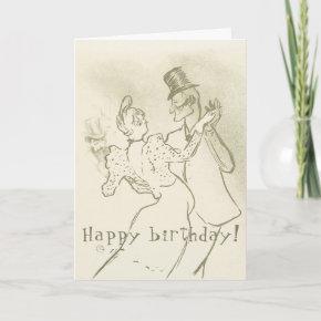 Toulouse Lautrec - Dancing couple \ Happy Birthday Invitation