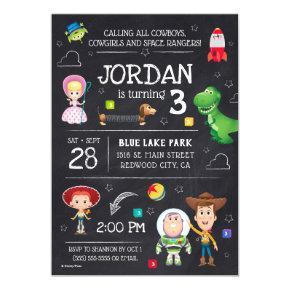 Toy Story Chalkboard Birthday Magnetic Invitation