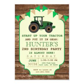 Tractor Birthday Invitations, Farm Birthday Invitations