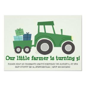 Tractor Birthday Party Invite