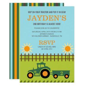 Tractor / Farm Birthday Party Invitation