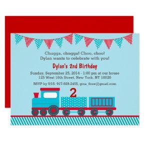 Train 1st Birthday Card