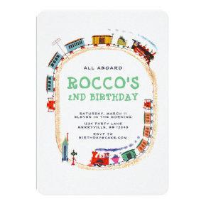 Train Birthday Invitation