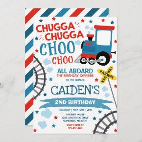 Train Birthday Invite Chugga Chugga Choo Choo