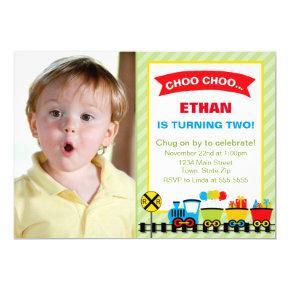 Train Birthday Party Invitation Invitations