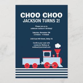 Train Invitation - Birthday Invitation for boys