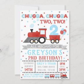 Train Invitation Boy Birthday Party Train Invite
