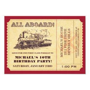 Train Ticket Invitations