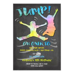 Trampoline Birthday Party for boy or girl Card