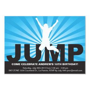Trampoline Birthday Party Invitations for a Boy