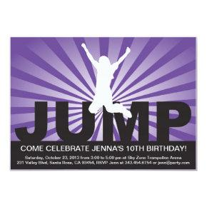 Trampoline Birthday Party Invitation for a Girl