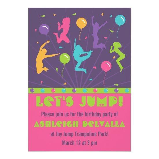 Trampoline Birthday Party For Girls