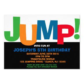 Trampoline Party Invitation