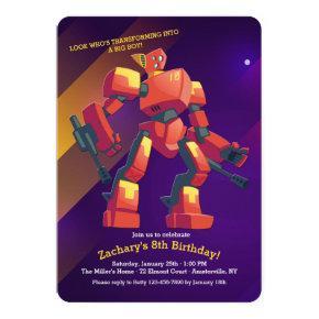 Transformer Birthday Invitation