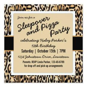 Trendy Animal Print Tween/Teen Birthday Party Invitation