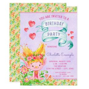 Troll Any Number Birthday Party Invitations