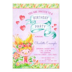 Troll Birthday Party Invitations