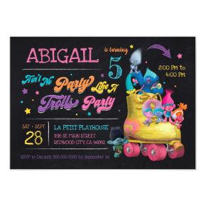Trolls Snack Pack Birthday Invitations