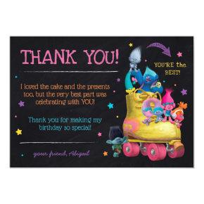 Trolls Snack Pack Birthday | Thank You Card