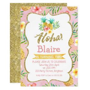 Tropical Aloha Birthday Invitation