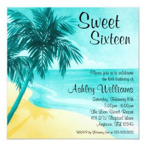 Tropical Beach Sweet 16 Birthday Party