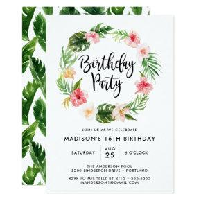 Tropical Blooms | Birthday Party Invitation