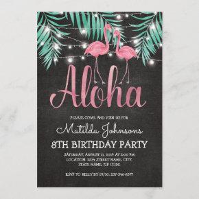 Tropical Hawaiian Luau Beach Birthday Party Invitation