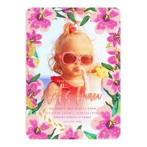 tropical luau birthday Invitations