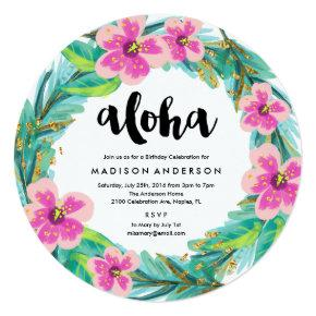 Tropical Wreath Party Invitation