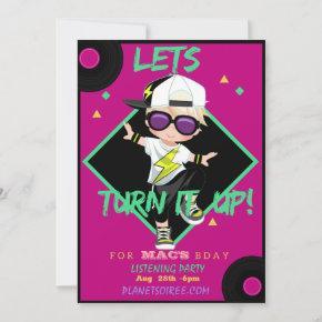 Turn up 1 Birthday Party Invitation  (Boy)
