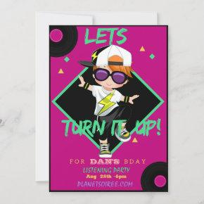 Turn up Different Birthday Party Invitation
