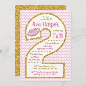 Tutu 2nd Birthday Invitation   Ballerina Party