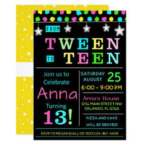 Tween to Teen 13th Birthday Invitation I Teenager