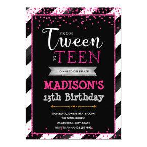 Tween to teen birthday party invitation