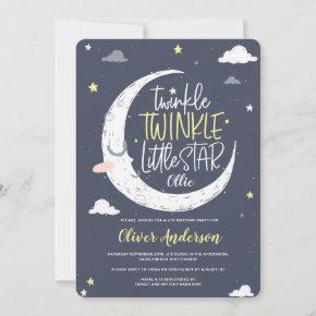 Twinkle, twinkle little star birthday party invite