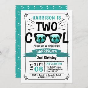 Two Cool Boys 2nd Birthday