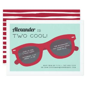 Two Cool | Summer Sunnies Birthday Party Invite