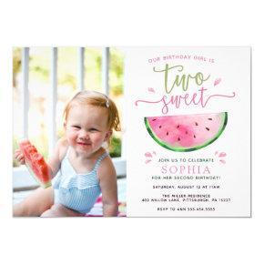 Two Sweet Watermelon Birthday Invitation
