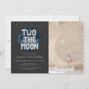 Two the Moon | 2nd Birthday Party Invitation