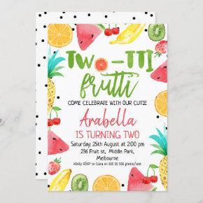 Two-tii Frutti 2nd Birthday invite