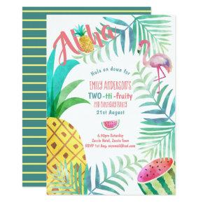 TWO-tti FRUITY 2nd Birthday Tropical