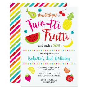 Two-tti Frutti Birthday Invitation | 2nd Birthday