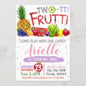 Two-Tti Frutti Birthday Party Invitation