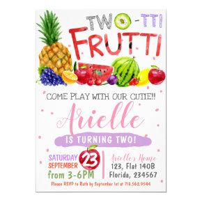 Two-Tti Frutti Birthday Party Invitation