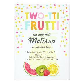 Two-tti frutti party invite Tutti fruity birthday