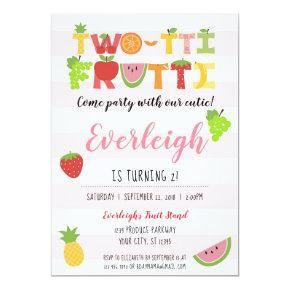 Two-tti Frutti - Tutti Fruity Birthday Invitation
