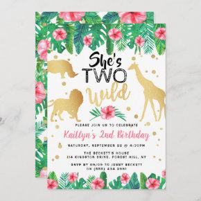 Two Wild Girls Second Birthday Party